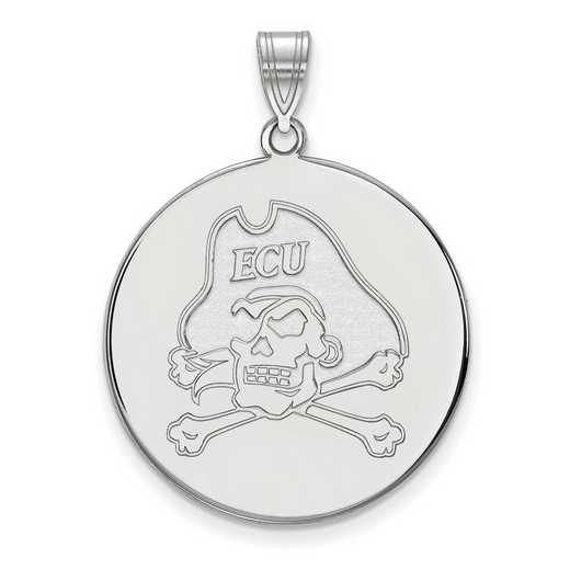 SS064ECU: SS LogoArt East Carolina Univ XL Disc Pendant