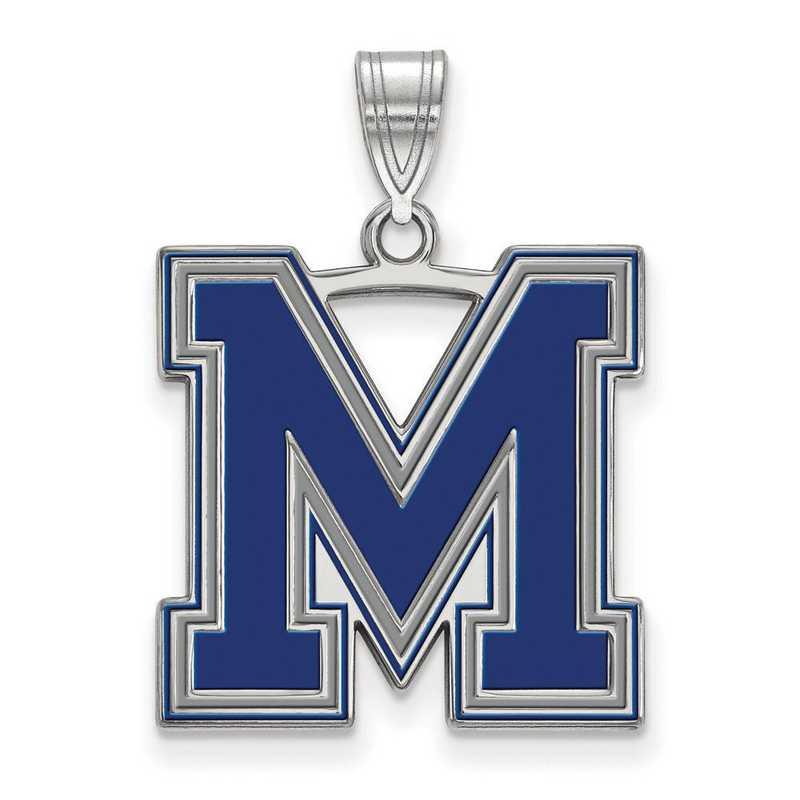 SS064UMP: SS LogoArt Univ of Memphis LG Enamel Pendant