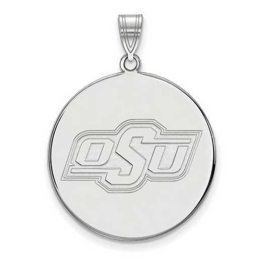 SS066OKS: SS LogoArt Oklahoma St Univ XL Disc Pendant
