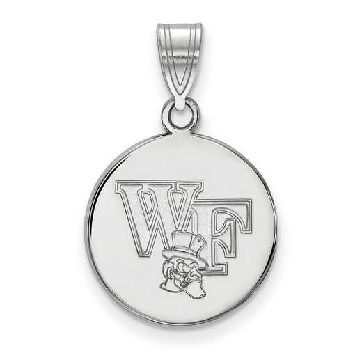 SS067WFU: SS LogoArt Wake Forest Univ Medium Disc Pendant