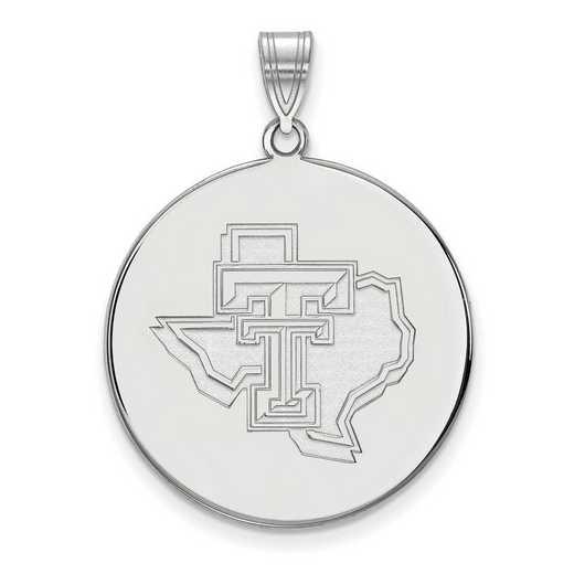 SS077TXT: SS LogoArt Texas Tech Univ XL Disc Pendant