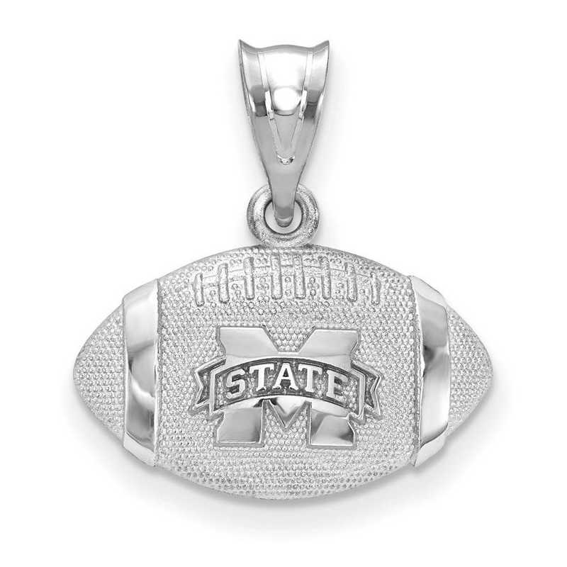 SS506MSS: SS Mississippi State Univ Football Pendant
