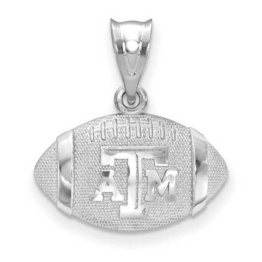 SS506TAM: SS LogoArt Texas A&M Univ 3D Football with logo pendant