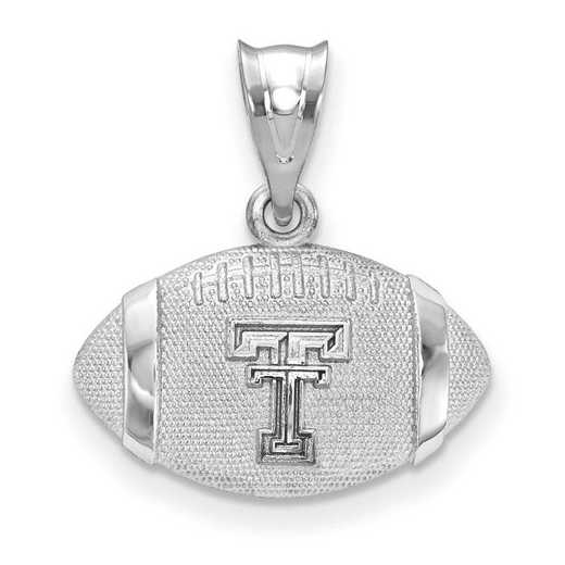 SS506TXT: SS Texas Tech Univ Football Pendant