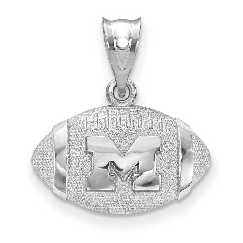 SS506UM: SS Univ Of Michigan Football Pendant