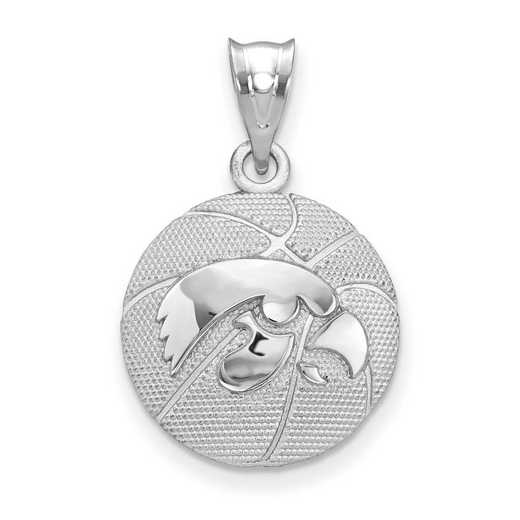 SS507UIA: SS The Univ of Iowa Basketball Pendant