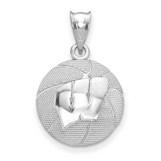 SS507UWI: SS The Univ of Wisconsin Basketball Pendant