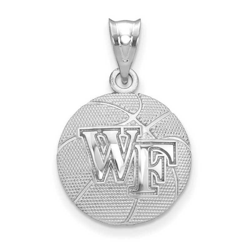 SS507WFU: SS Wake Forest Univ Basketball Pendant