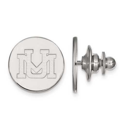 4W009UMT: 14kw LogoArt University of Montana Lapel Pin