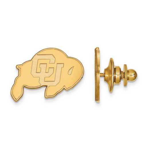 4Y009UCO: 14ky LogoArt University of Colorado Lapel Pin
