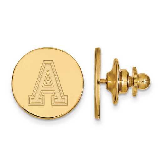 4Y009USMA: 14ky LogoArt U.S. Military Academy Lapel Pin