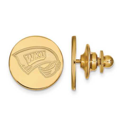 4Y009WKU: 14ky LogoArt Western Kentucky University Lapel Pin