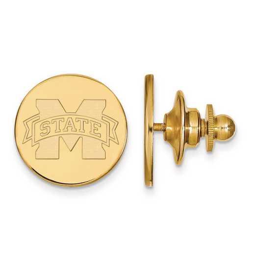 4Y011MSS: 14ky LogoArt Mississippi State University Lapel Pin