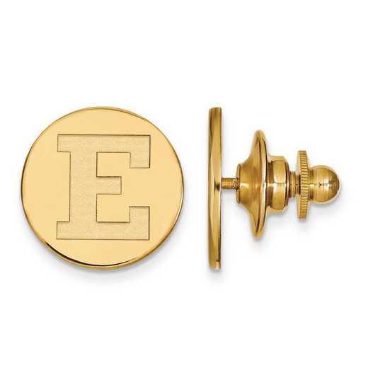 4Y020EMU: 14ky LogoArt Eastern Michigan University Lapel Pin
