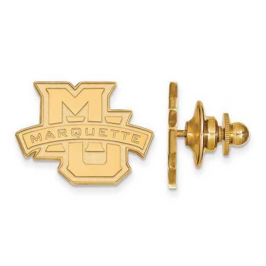 4Y028MAR: 14ky LogoArt Marquette University Lapel Pin