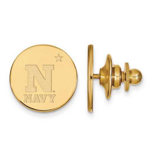 GP001USN: Sterling Silver w/GP LogoArt Navy Lapel Pin
