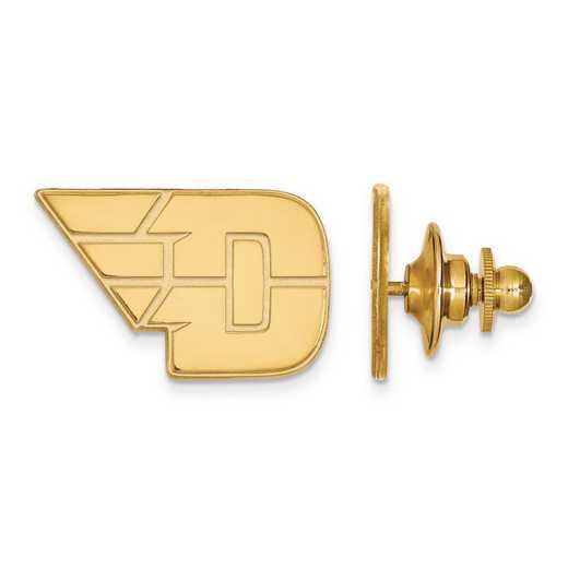GP009UD: Sterling Silver w/GP LogoArt University of Dayton Lapel Pin