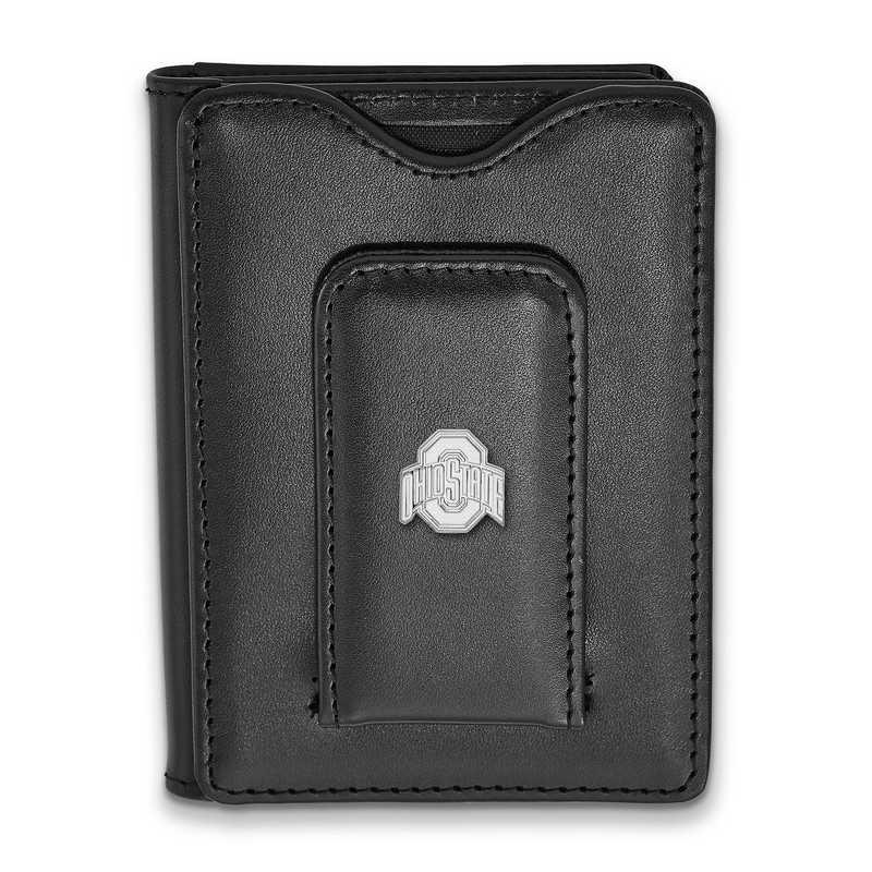 SS013OSU-W1: 925 LA Ohio State University Blk Lea Wallet