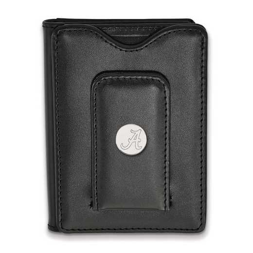 SS013UAL-W1: 925 LA University of Alabama Blk Lea Wallet
