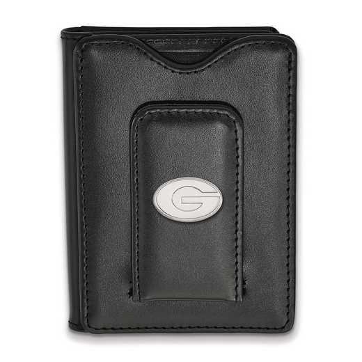 SS013UGA-W1: 925 LA University of Georgia Blk Lea Wallet