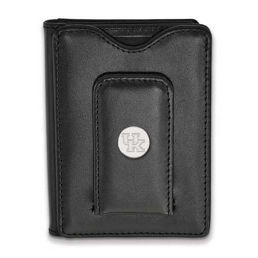 SS013UK-W1: 925 LA University of Kentucky Blk Lea Wallet
