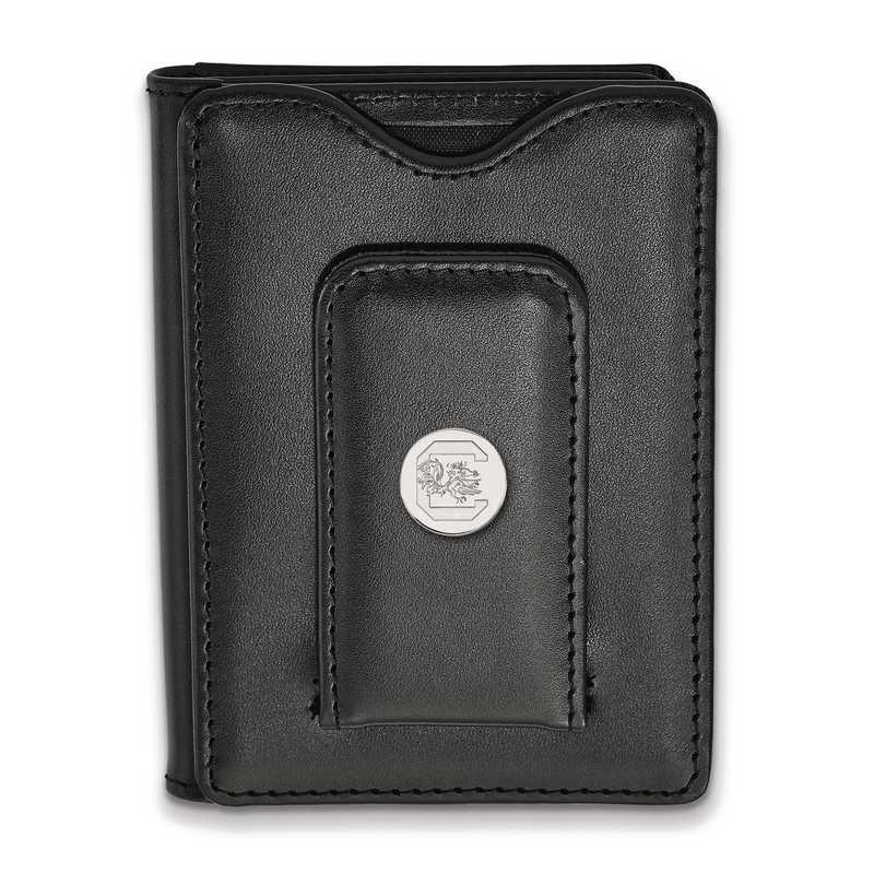 SS013USO-W1: 925 LA University of South Carolina Blk Lea Wallet