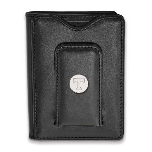 SS013UTN-W1: 925 LA University of Tennessee Blk Lea Wallet