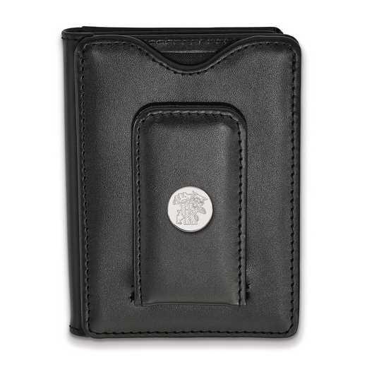 SS054UK-W1: 925 LA University of Kentucky Blk Lea Wallet