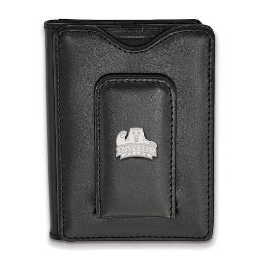 SS012BU-W1: SS LogoArt Baylor Univ Blk Leather Wallet