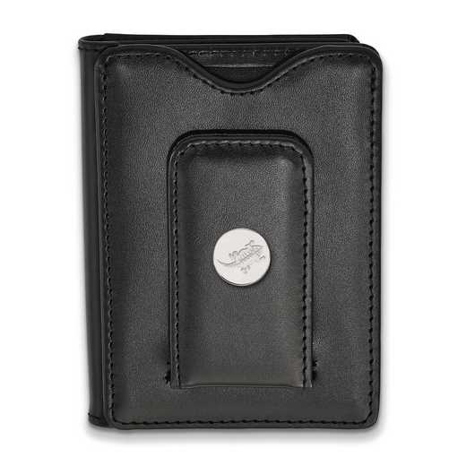 SS045TCU-W1: SS Texas Christian Univ Blk Leather Money Clip Wallet
