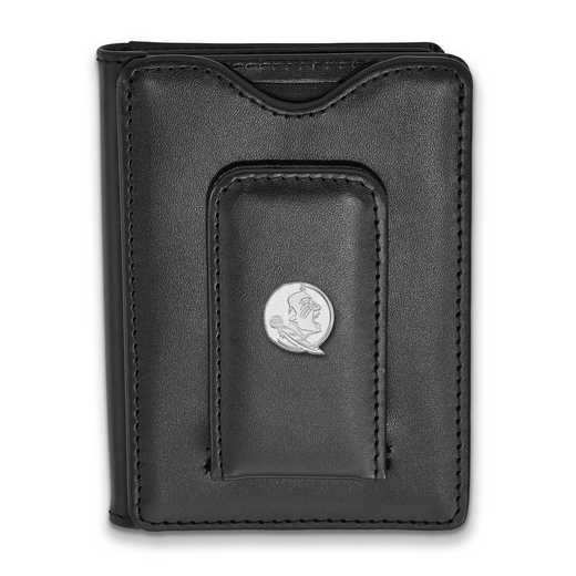SS053FSU-W1: SS LogoArt Florida State Univ Blk Leather Wallet