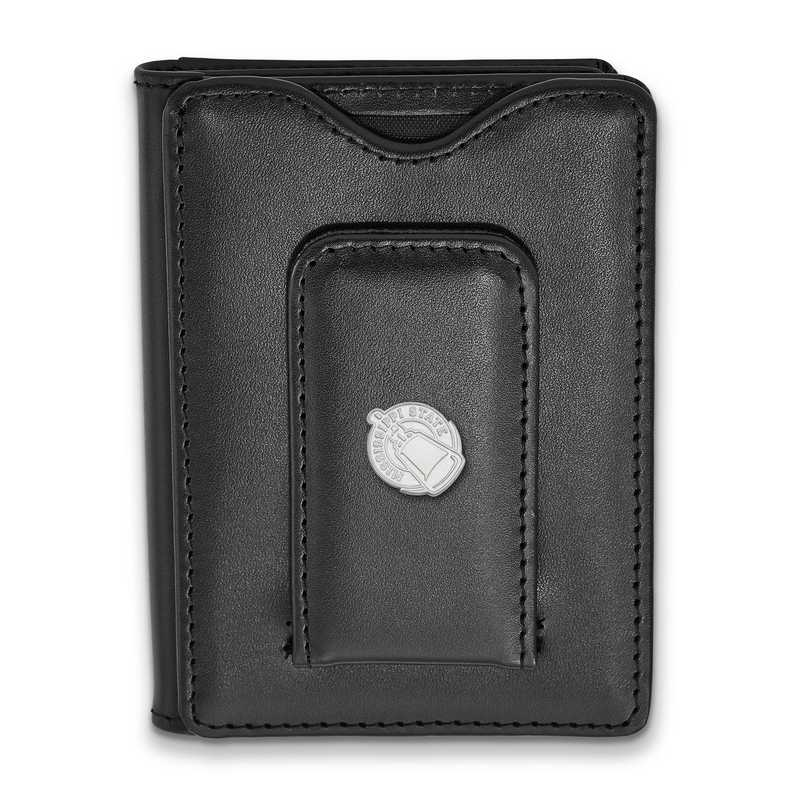 SS054MSS-W1: SS LogoArt Mississippi State Univ Blk Leather Wallet