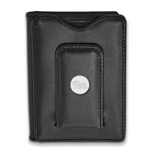 SS071UPI-W1: SS LogoArt Univ of Pittsburgh Blk Leather Wallet