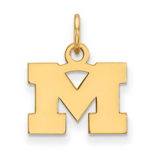 GP001UM: 925 YGFP Michigan XS Pendant