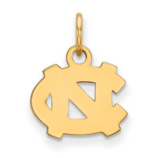 GP001UNC: 925 YGFP North Carolina XS Pendant