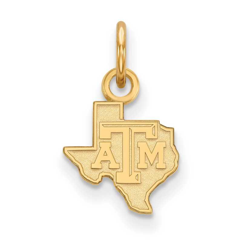GP040TAM: 925 YGFP Texas A&M XS Pendant