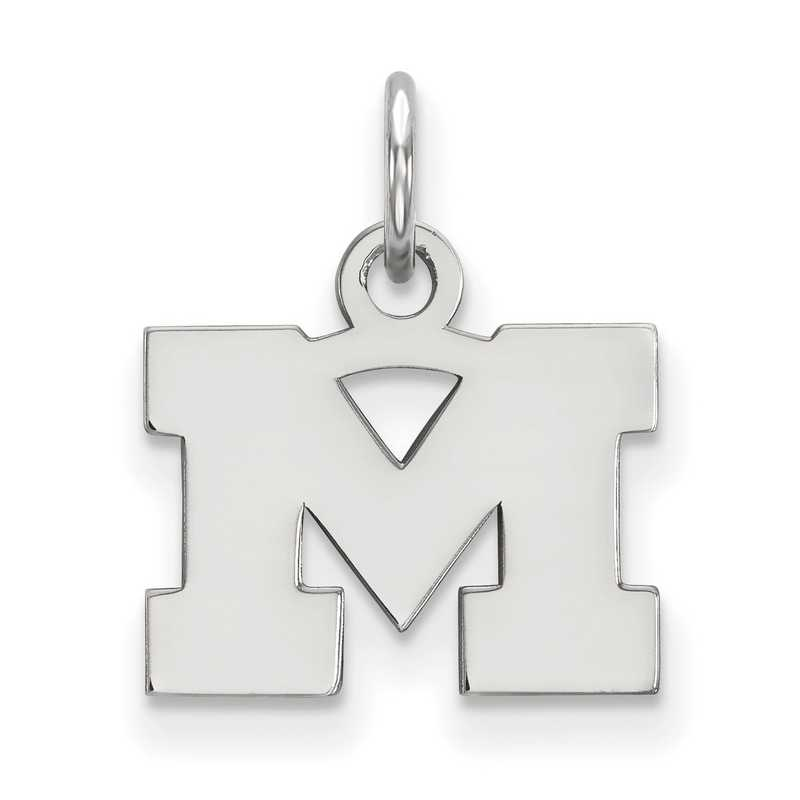 University Of Large Enamel Pendant LogoArt Gold-Plated 925 Silver Michigan