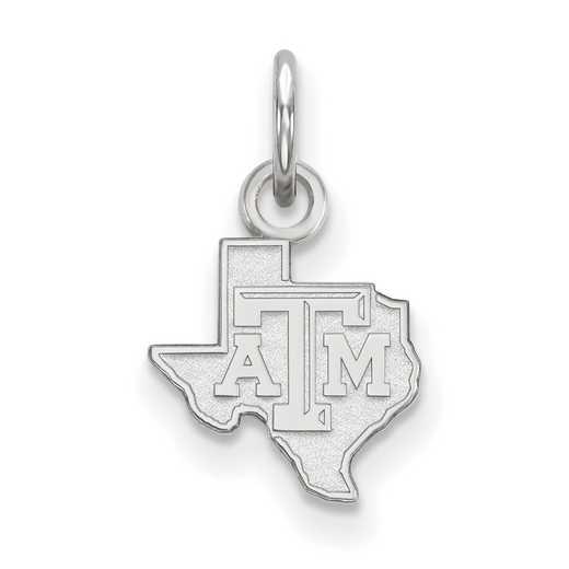 SS040TAM: 925 Texas A&M XS Pendant