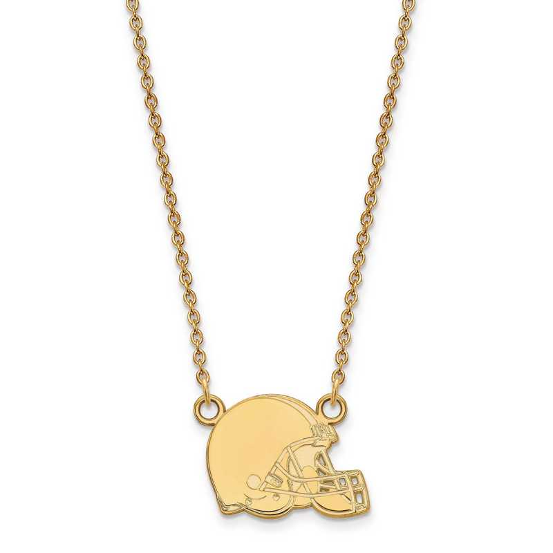 GP011BRW-18: 925 YGFP Cleveland Browns Pendant Necklace