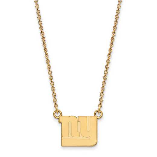 GP011GIA-18: 925 YGFP New York Giants Pendant Necklace