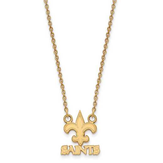 GP011SAI-18: 925 YGFP New Orleans Saints Pendant Necklace