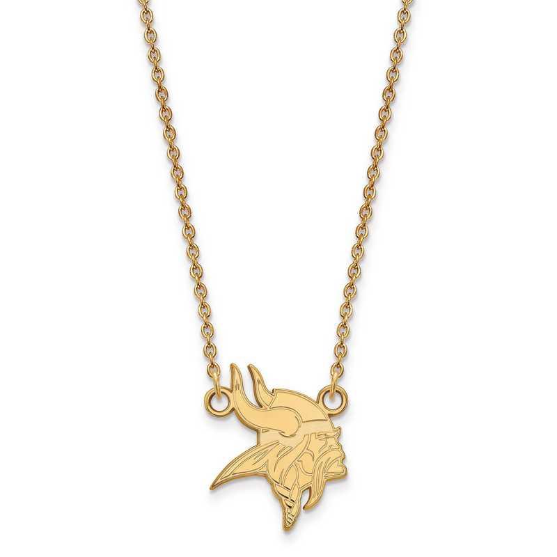 GP011VIK-18: 925 YGFP Minnesota Vikings Pendant Necklace