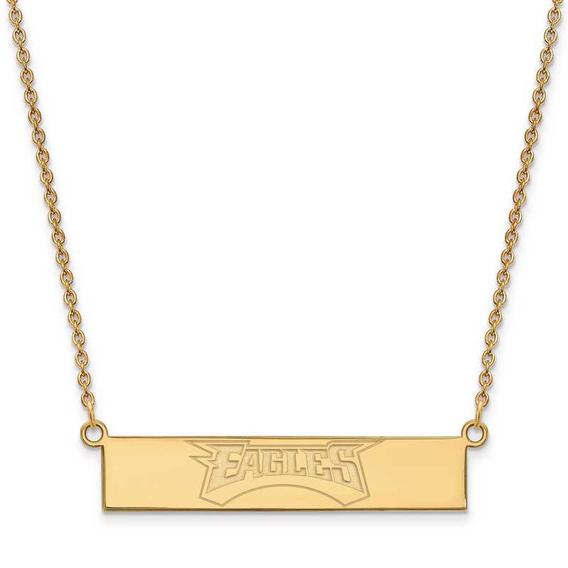 GP016EAG-18: 925 YGFP Philadelphia Eagles Bar Necklace