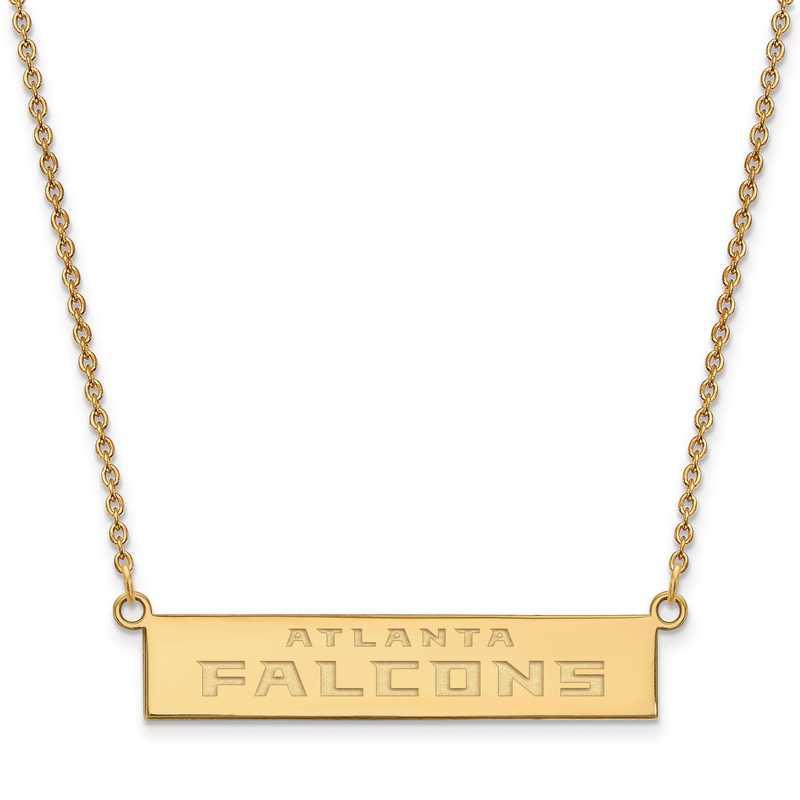 GP016FAL-18: 925 YGFP Atlanta Falcons Bar Necklace