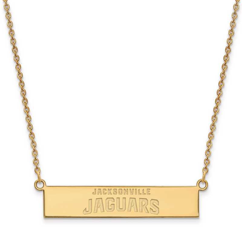 GP016JAG-18: 925 YGFP Jacksonville Jaguars Bar Necklace