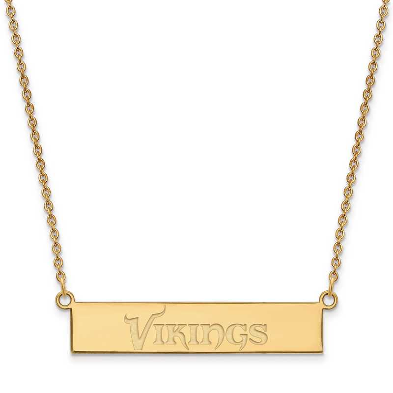 GP016VIK-18: 925 YGFP Minnesota Vikings Bar Necklace