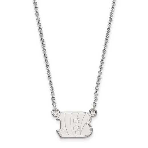 SS011BEN-18: 925 Cincinnati Bengals Pendant Necklace