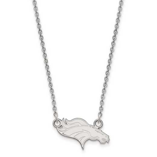 SS011BRO-18: 925 Denver Broncos Pendant Necklace