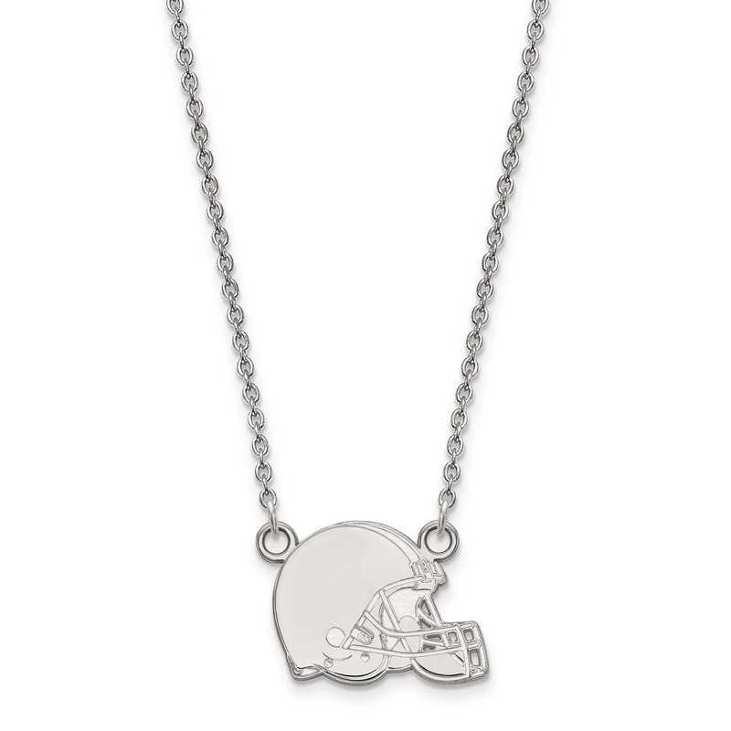 SS011BRW-18: 925 Cleveland Browns Pendant Necklace