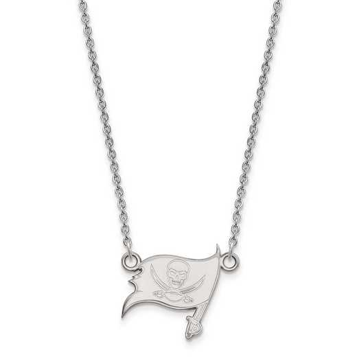 SS011BUC-18: 925 Tampa Bay Buccaneers Pendant Necklace
